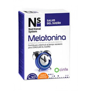 NS MELATONINA 30 COMPRIMIDOS MASTICABLES NARANJA 1.95 MG
